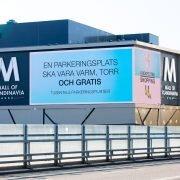 fasadskyltning mall of scandinavia