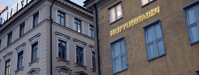 Hufvudstaden fasadskyltar i Stockholm | Focus Neon